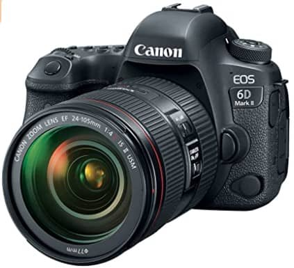 Canon EOS 6D Mark II DSLR Camera with EF 24-105mm USM Lens, WiFi Enabled