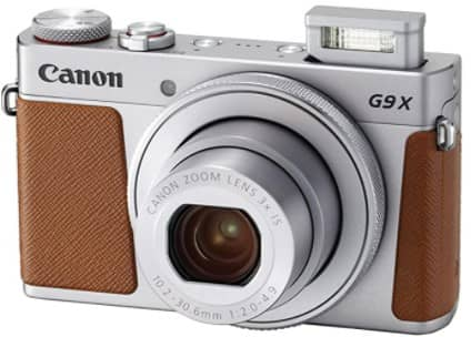 Canon PowerShot G9 X Mark II Compact Digital Camera w 1 Inch Sensor and 3inch LCD - Wi-Fi, NFC, Bluetooth Enabled (Silver) (1)