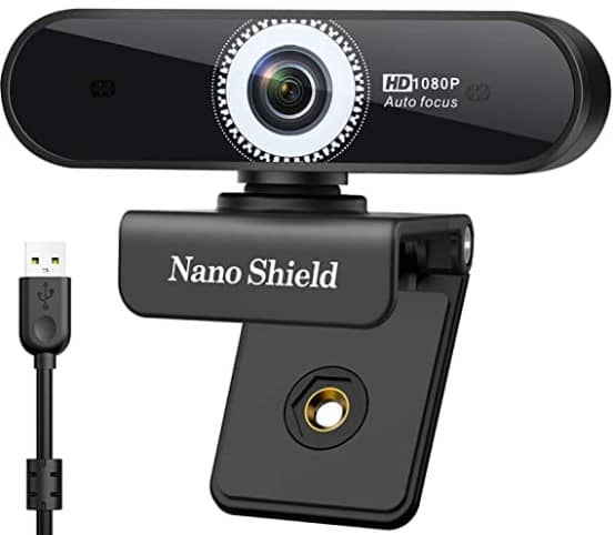 Premium Autofocus Webcam 1080P, Yarkor N920 HD Live Streaming Webcam 2MP with Noise Cancelling Mic, USB Conference Web Cam for Computer, Desktop, PC, Laptop, Works on Mac or Windows, for Skype Zoom